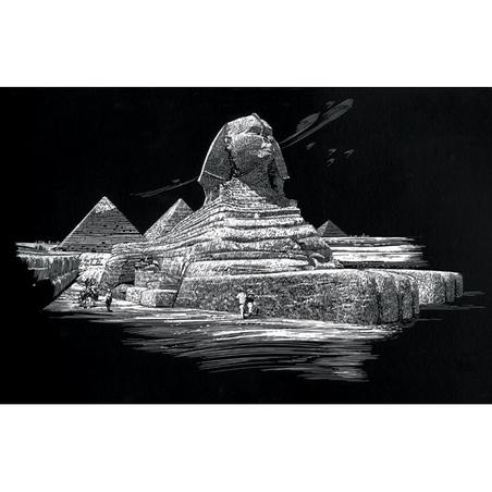 Set gravura - locuri celebre- Sfinx