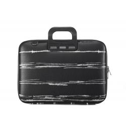 Geanta lux business laptop 15,6 Bombata Black&White-Negru