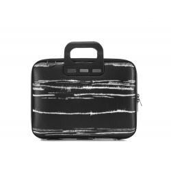 Geanta lux business laptop 13 Bombata Medio Black&White-Negru