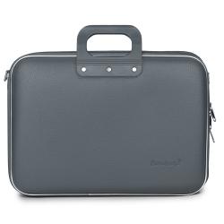 Geanta lux laptop 15,6 Bombata Business Classic-Gri inchis