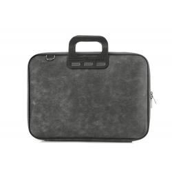 Geanta lux business laptop 15,6 Bombata Denim-Negru