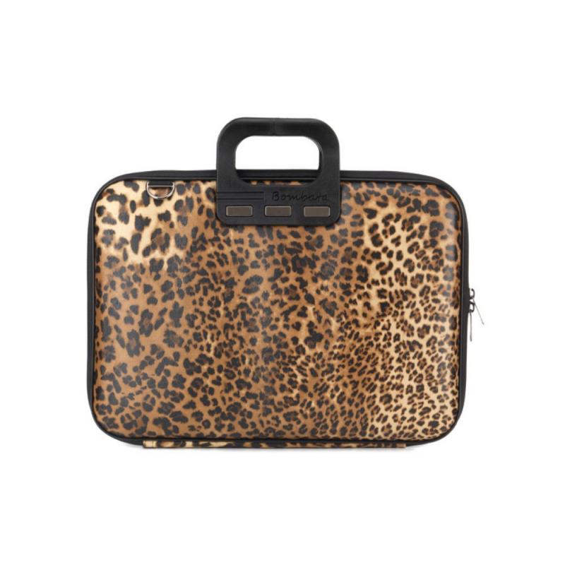 Geanta lux business laptop 15.6 Bombata model Leopard