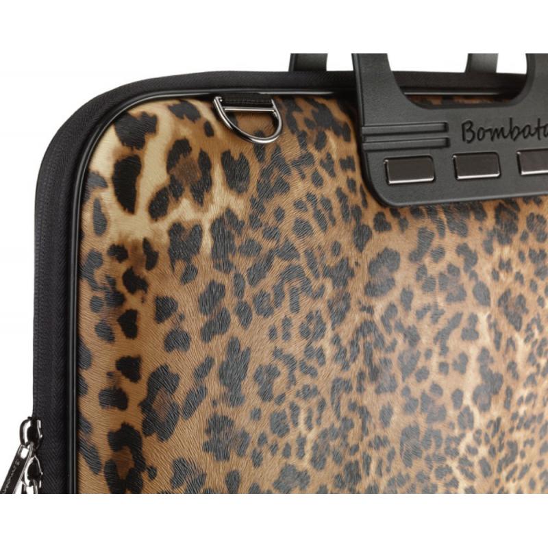Geanta lux business laptop 15.6 Bombata Leopard perspectiva