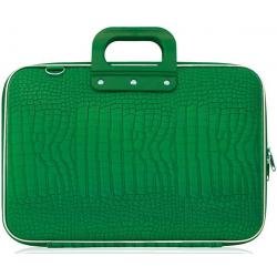 Geanta lux business laptop 17 Bombata Maxi Cocco-Verde
