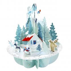 Pirouettes felicitare 3D cu vedere 360 grade Winter Wonderland - Tinutul magic al iernii
