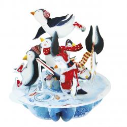 Pirouettes Felicitare 3D de iarna Pinguini