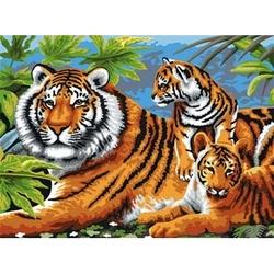Prima mea pictura pe nr junior mare Tigri Jad Flamande