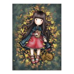 Felicitare Gorjuss Autumn Leaves
