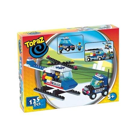 Set 2 autovehicule politie-125 piese compatibile integral si cu piesele produse de alte marci de calitate