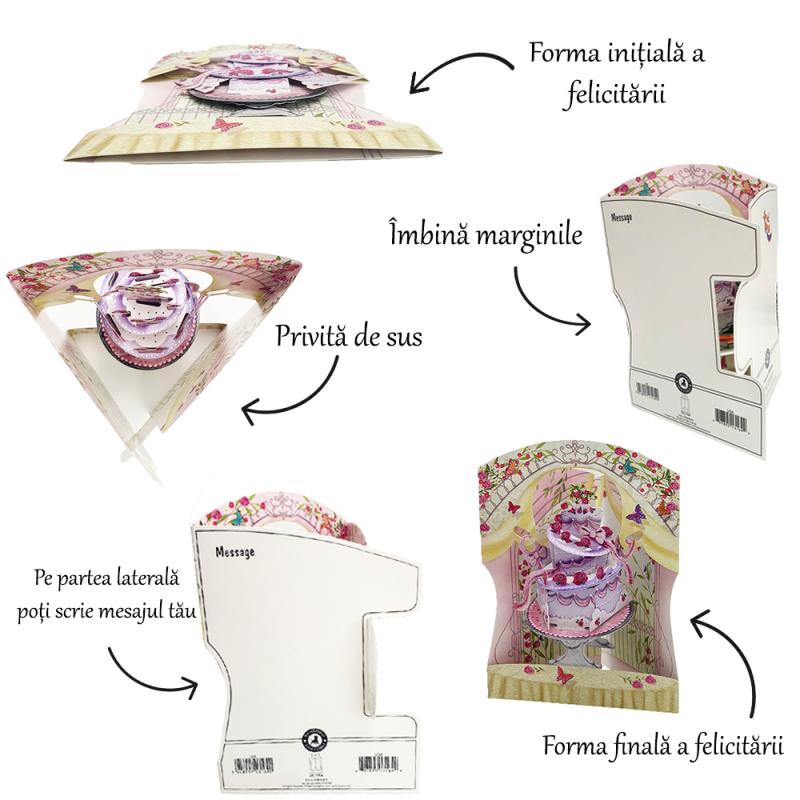 Felicitare 3D Swing Cards – Baietel in balansoar instructiuni