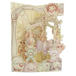 Felicitare 3D Swing Cards - Patut bebelus