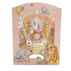 Felicitare 3D Swing Cards – Fetita in balansoar