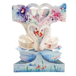 Felicitare 3D Swing Cards – Lebede