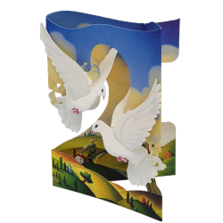 Felicitare 3D Swing Cards – Porumbei