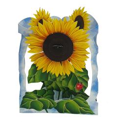 Felicitare 3D Swing Cards - Floarea soarelui