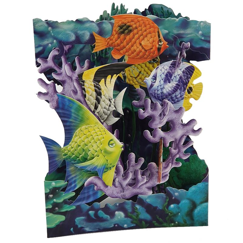 Felicitare 3D Swing Cards - Viata marina
