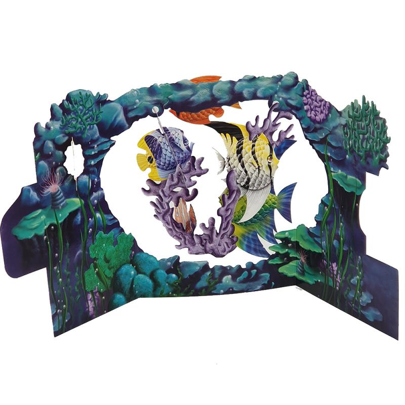 Felicitare 3D Swing Cards - Viata marina perspectiva