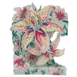 Felicitare 3D Swing Cards – Crini