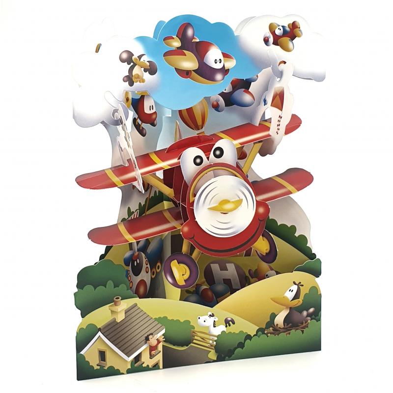 Felicitare 3D Swing Cards - Avion