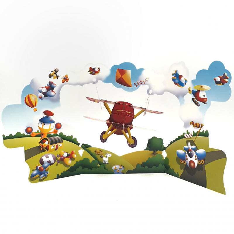 Felicitare 3D Swing Cards - Avion perspectiva