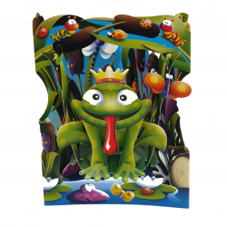 Felicitare 3D Swing Cards - Broasca