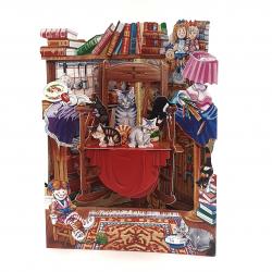 Felicitare 3D Swing Cards - Pisicute in balansoar