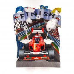 Felicitare 3D Swing Cards - Masina de curse