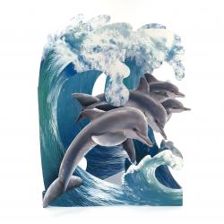 Felicitare 3D Swing Cards - Delfini