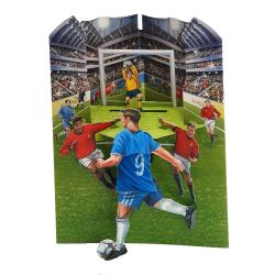 Felicitare dinamica 3D Swing Cards - Fotbal