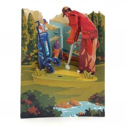 Felicitare 3D Swing Cards - Golf