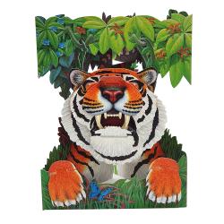 Felicitare 3D Swing Cards - Tigru