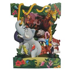 Felicitarea 3D Swing Cards - Animale din jungla