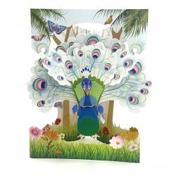 Felicitare 3D Swing Cards - Paun