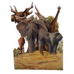 Felicitare 3D Swing Cards - Safari