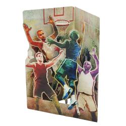 Felicitare 3D Swing Cards - Baschet