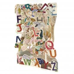 Felicitare 3D Swing Cards - De la A la Z elemente mobile