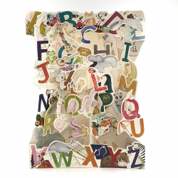 Felicitare 3D Swing Cards - De la A la Z