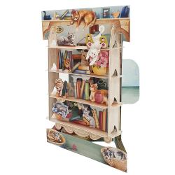 Felicitare 3D Swing Cards  - Pisici in biblioteca elemente mobile