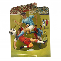 Felicitare 3D Swing Cards - Meci de fotbal
