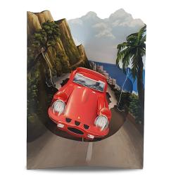 Felicitare 3D Swing Cards - Masina rosie