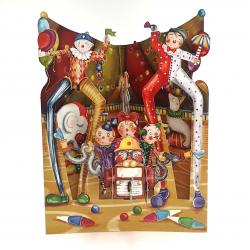 Felicitare 3D Swing Cards - Clowni la Circ