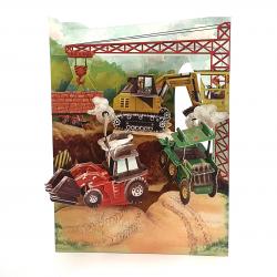 Felicitare 3D Swing Cards – Tractoare si utilaje