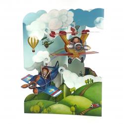 Felicitare 3D Swing Cards - Avioane