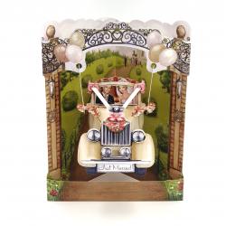 Felicitare 3D Swing Cards - Masina de nunta