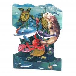Felicitare 3D Swing Cards – Lumea acvatica