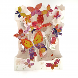 Felicitare 3D Swing Cards – Fluturi