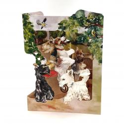 Felicitare 3D Swing Cards – Catelusi jucausi