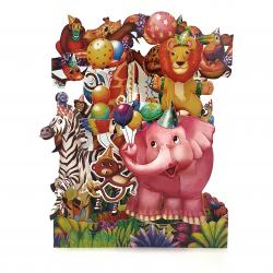 Felicitare 3D Swing Cards - Petrecerea animalelor