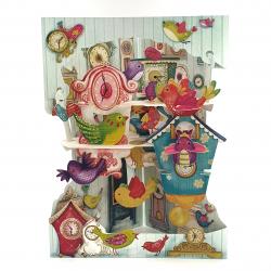 Felicitare 3D Swing Cards – Pasarele si ceasuri