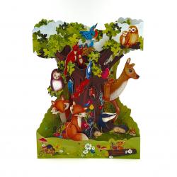 Felicitare 3D Swing Cards – Animalele padurii
